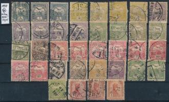 1900 Turul 36 db bélyeg csillagvízjellel