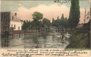 1908 Kassa, Kosice; Malomárok felső része. Nyulászi Béla kiadása