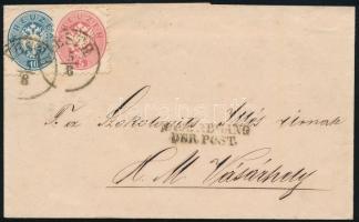 ~1865 5kr + 10kr on cover