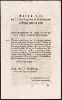 1830 Bécs, német nyelvű körlevél az Osztrák Hercegségben kötelezvényekkel kapcsolatban