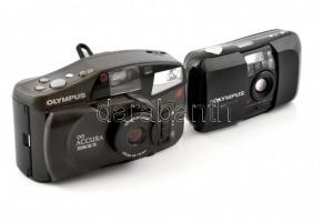 2 db Olympus fényképezőgép: M (mju:)-1, műbőr tokban és Accura Zoom XZ 70