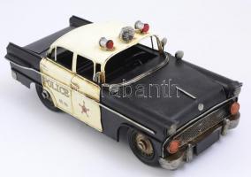 Nagy méretű retro fém játék rendőrautó. sz: 32 cm
