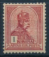 1900 Turul 1K (9.500) (foghiány / missing perf.)