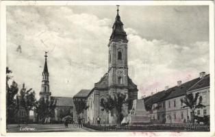 1938 Losonc, Lucenec; templomok / churches + 1938 Losonc visszatért So. Stpl. (fl)