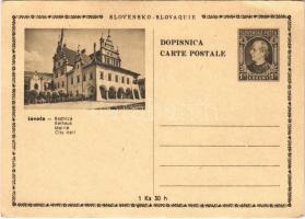 Lőcse, Levoca; Radnica / Rathaus / Városháza / town hall + Ga. (EK)