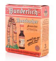 Wunderlich Rossbacher Kräuterlikör 3×20 ml eredeti bontatlan csomagolásában