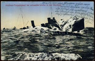 Nordsee, Hochseetorpedoboot / North Sea, ocean-going torpedo boat, Északi-tenger, Óceánjáró torpedónaszád