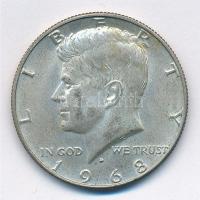Amerikai Egyesült Államok 1968D 1/2$ Ag Kennedy T:2 USA 1968D 1/2 Dollar Ag Kennedy C:XF Krause KM#202a