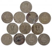 Ausztria 1915-1916. 10h Cu-Ni (12db) T:2-3 Ausztria 1915-1916. 10 Heller Cu-Ni (12pcs) C:XF-F Krause KM#2822, KM#2825