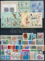 38 different stamps + 10 different blocks, Külföldi bélyegek vegyesen 4 stecklapon: 38 klf bélyeg és 10 klf blokk, közte szép motívum értékek