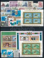 32 different stamps + 10 different blocks, Külföldi bélyegek vegyesen 4 stecklapon: 32 klf bélyeg és 10 klf blokk, közte sok Épület motívum
