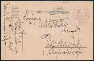 1915 Tábori posta levelezőlap / Navy mail postcard S.M.S. KAISER MAX + ZELENIKA