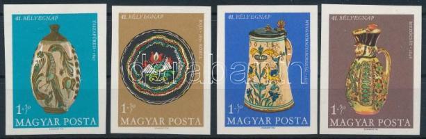 1968 Bélyegnap (41.) vágott sor (4.000) (ujjlenyomatok, MBK 2483 betapadás / finger prints, Mi 2446 gum disturbance)
