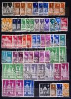 NSZK bélyegek 8 lapos közepes berakóban (ca. Mi EUR 280,-)