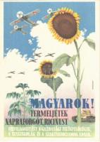 Harcigépeinknek olaj kell! Termeljünk napraforgót, ricinust! / WWII Hungarian military propaganda, grain oil for military aircrafts and tanks s: Mosdóssy