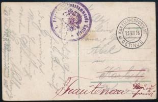 1916 Tábori posta képeslap EP CETINJE a