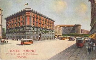 Napoli, Naples; Hotel Torino, trams