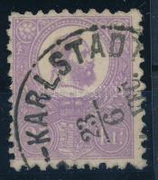 1871 Jó minőségű sötétibolya Kőnyomat 25kr (KARLOVAC)-KARLSTADT VEC helybélyegzővel (135.000-225.000) Sign: Diena