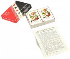 Retro Piatnik francia kártya, 2 pakli, egyik bontatlan csomagolásban, eredeti karton dobozában