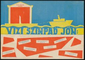 Balatoni vízi színpad - Petőfi Színház Veszprém kisplakát, 14×20 cm