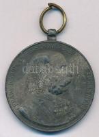 1898. Jubileumi Emlékérem Fegyveres Erő Számára / Signum memoriae (AVSTR) Zn kitüntetés mellszalag nélkül T:2- oxidáció