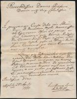 1803 Miskolc, latin nyelvű levél