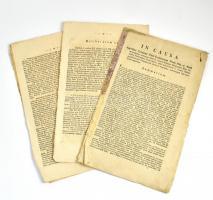 1807 Kun Mihály kontra Pest Pilis Solt vármegye pernek összefoglalója latin nyelven 28 p. Utolsó lap elvált.