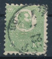 1871 Kőnyomat 3kr  (140.000) Sign: Pfenninger (átlós törés / diagonal fold)