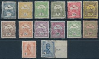 1913 Turul sor fekvő vízjellel (230.000) (20f és 50f kis gumihiba / gum disturbance)