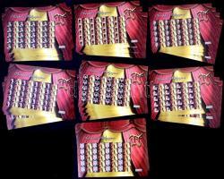 2010-2012 Színházi bélyegem BELFÖLD felíratú bélyegek csaknem teljes gyűjteménye ívekben, 102 db KÜLÖNFÉLE megszemélyesített teljes ív  (kat. közel 1,5 millió) Komoly gyűjtői munkával összegyűjtött nagy anyag!! / My Theatre stamp (with portraits of actresses and actors) without denomination (with text BELFÖLD= domestic cover), 102 DIFFERENT personalised sheets of 20, almost complete collection (apró hibák, ráncok, törések, sarok törések / minor faults, creases, folds)