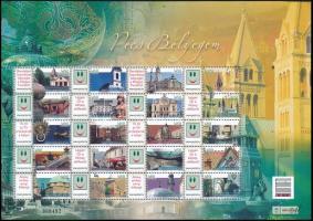 2009 Pécs bélyegem promóciós teljes ív sorszámmal (7.000)