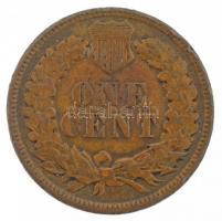 Amerikai Egyesült Államok 1887. 1c Br Indián fej T:2-,3 USA 1887. 1 Cent Br Indian Head Cent C:VF,F Krause KM#90a