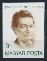 1980 Erdei Ferenc vágott bélyeg