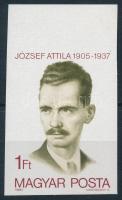 1980 József Attila ívszéli vágott bélyeg