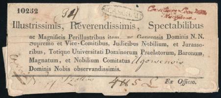 1839 Ex offo v.CASCHAU - Nagyszőllős