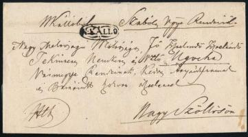 1841 Hivatalos levél N:KALLO - Nagyszőllős