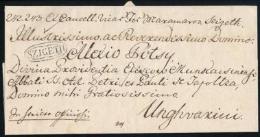 1824 Ex offo SZIGETH - Unghvár