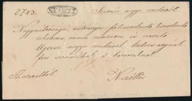 1840 Hivatalos levél N:KAROLY - N. Szőllős