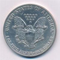 Amerikai Egyesült Államok 1991. 1$ Ag Amerikai Sas T:1,1- USA 1991. 1 Dollar Ag American Eagle Bullion Coin C:UNC,AU Krause KM# 273