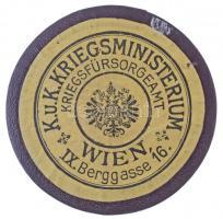 Osztrák-Magyar Monarchia ~1914. K.u.K. Kriegsministerium Kriegsfürsorgeamt bordó dísztok (54mm) szép állapotban Austro-Hungarian Monarchy ~1914. K.u.K. Kriegsministerium Kriegsfürsorgeamt burgundy case (54mm) in nice condition