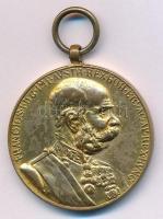 1898. Jubileumi Emlékérem Fegyveres Erő Számára / Signum memoriae (AVSTR) Br kitüntetés mellszalag nélkül T:2 Hungary 1898. Commemorative Jubilee Medal for the Armed Forces decoration without ribbon C:XF  NMK 249.