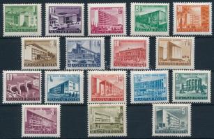 1951/1953 Épületek I. sor kis képméretben (10.000) (4Ft kis rozsdafolt / small stain)