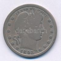 Amerikai Egyesült Államok 1892. 25c Ag Barber T:3 USA 1892. 25 Cents Ag Barber C:F Krause KM#114