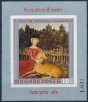 1970 Festmény (IX.) vágott blokk (3.500) (ujjlenyomat / finger print)