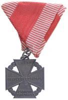 1916. Károly-csapatkereszt Zn kitüntetés mellszalagon T:2 / Hungary 1916. Charles Troop Cross Zn decoration on ribbon C:XF NMK 295.