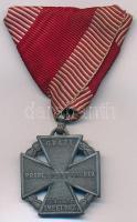 1916. Károly-csapatkereszt Zn kitüntetés mellszalagon T:2 Hungary 1916. Charles Troop Cross Zn decoration on ribbon C:XF NMK 295.