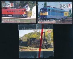 1995 MÁV vasút sorozat (gőzmozdony, V43, M62), bontatlan csomagolásban