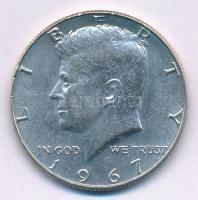 Amerikai Egyesült Államok 1967. 1/2$ Ag Kennedy T:2 USA 1967. 1/2 Dollar Ag Kennedy C:XF  Krause KM#202a