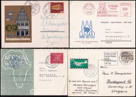 NSZK 8 db képes levelezőlap 1957-1971 érdekes motívumokkal