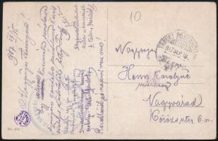 1917 Tábori posta képeslap TP 417